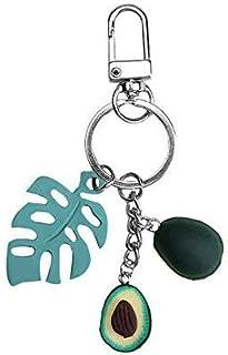 Luxurious 3 Pcs New Simulation Fruit Avocado Heart-Shaped Keychain Fashion Jewelry Gift for Women Green