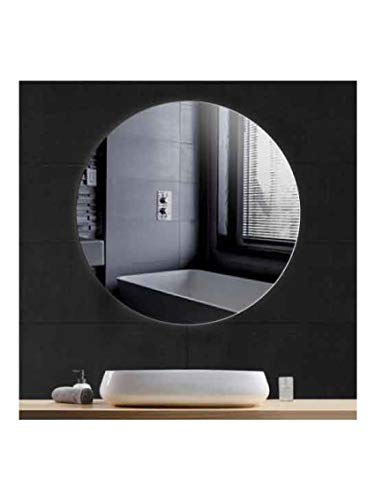 CustomGlass Specchio da parete rotondo in diverse misure, con forma circolare per parrucchiere, rotondo, 120 cm