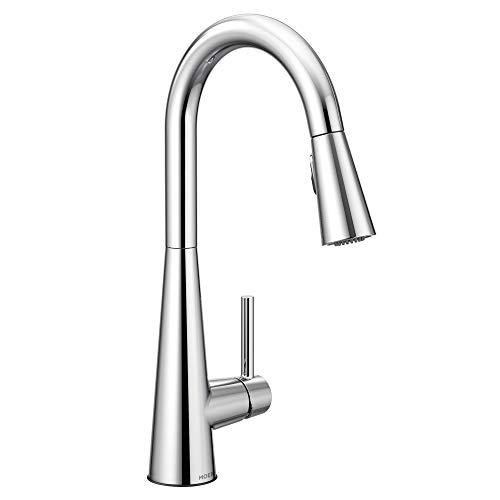 Moen 7864 Sleek One-Handle High Arc Pulldown Kitchen Faucet...