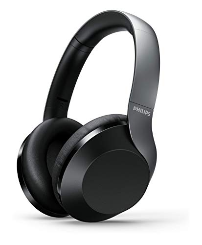 Philips Audio Performance TAPH805BK Bluetooth 5.0 Active Noise Cancelling Over-Ear Headphones with Google Assistant (Black)