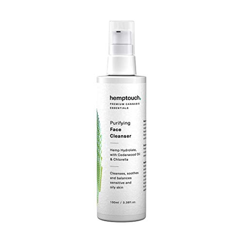 Cáñamo orgánicos Crema–Face Cleanser, Purificación de gentle fórmula para acné propensos y problemática irritación de la piel, cáñamo CDB aceite y cáñamo Flores hydrolate fórmula, 100ml