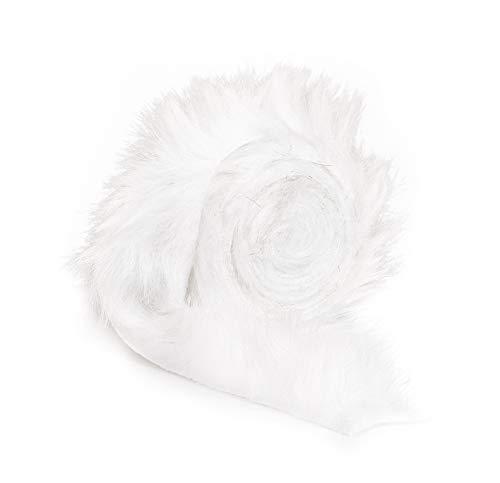 VBS Kunst-Fellband, 40mm, 2m Weiß