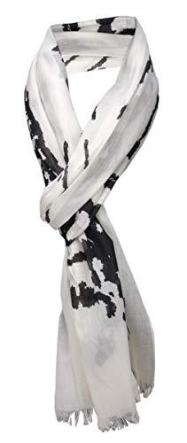 TigerTie Schal in schwarz weiß Motiv