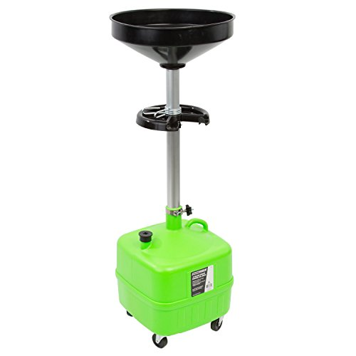 OEM TOOLS 87032 9 Gallon Portable Upright Lift Drain, Upright Portable Oil Drain Tank with Funnel, Oil Change Tool, Easy Oil Recycling