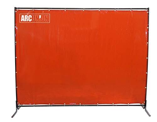 Arc Union Welding Screen With Frame 6x6 Orange