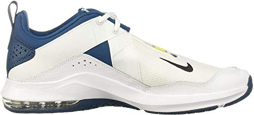 Nike Air MAX Alpha Trainer 2, Zapatillas de Deporte para Hombre, Multicolor (White/Black/Blue Force/Dynamic Yellow 100), 43 EU