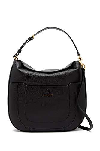 Marc Jacobs Empire City Hobo-Tasche aus Leder, Schwarz (schwarz), Large