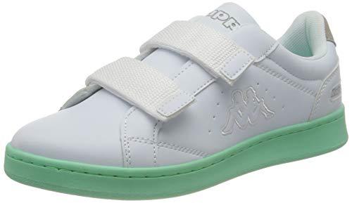 Kappa Damen Clave Sneaker, 1037 White/Mint,38 EU
