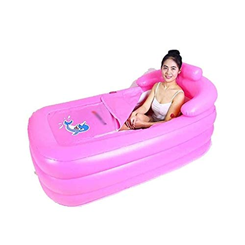 WYJBD PP aufblasbare Badewanne, Stream Zimmer Sweat Box Inflatable Eimer Sauna nimmt EIN Bad Badewanne mit elektrischer Pumpe Falten Dual-Purpose Einzel (Color : Pink)