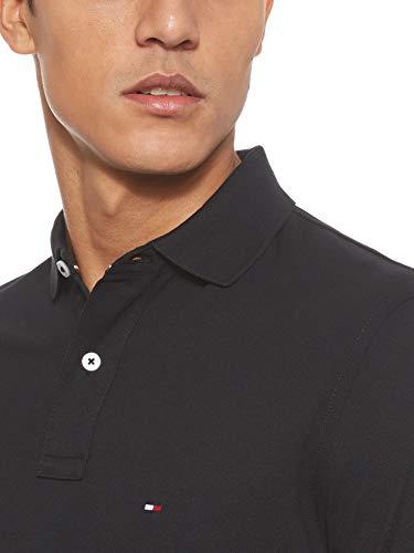 Tommy Hilfiger Herren CORE TOMMY REGULAR POLO Poloshirt, Schwarz (Flag Black 032), Medium