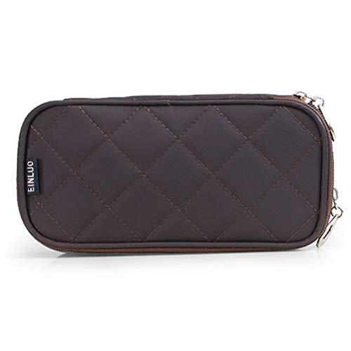 Mini sac cosmétique portable en nylon imperméable à l'eau multi-fonction demi-ouverte à deux couches grande capacité voyage Make Up Bag,5