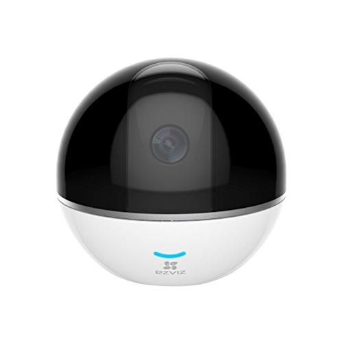Ezviz C6T - Cámara de Seguridad Pan/Tilt, Visión Nocturna, Audio Bidireccional, Máscara de Privacidad Inteligente, Seguimiento de Movimiento, Servicio de Nube, Compatible con Alexa