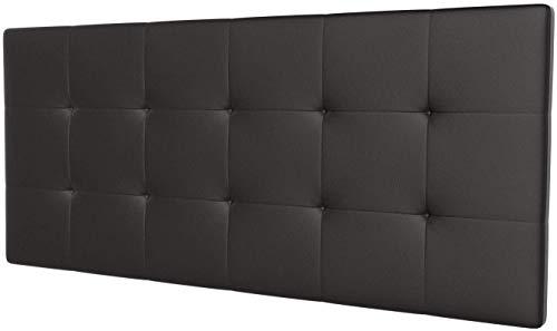 LA WEB DEL COLCHON - Cabecero tapizado Celio para Cama de 150 (160 x 70 cms) Chocolate