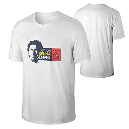 Camiseta gráfica Camiseta de Manga Corta Ayrton Senna para Hombre