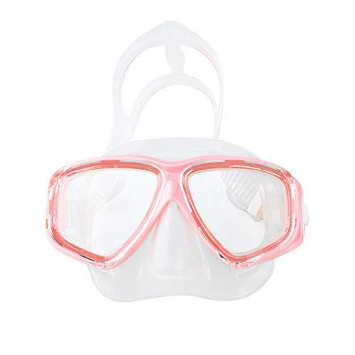 Duikbril set snorkelmasker groot frame voor volwassenen spiegel snorkelen zwemmen duiken