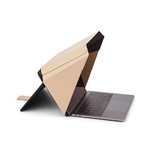 NEW Technology Made from Organic Materials  Laptop Sun Shade Privacy CoverHood for most 13-14 Beige  Universal  Only Cover Providing Complete Privacy and Sun Protection  Patent No D790551