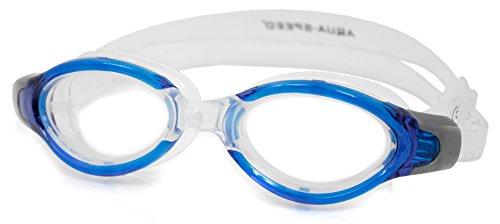 Aqua Herren Speed Triton Monoblock-Schwimmbrille Einheitsgröße Transparent/Blue