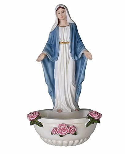 Weihwasserbecken Madonna Weihwassergefäss Madonnenfigur Shabby Chic wu75377aa Palazzo Exklusiv