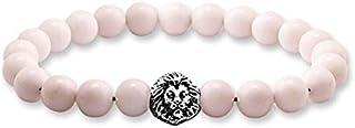 Stone Beads with Lion Unisex Charm Bracelet…