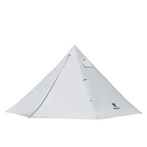 OneTigris Black Orca ワンポールテント 軽量テント 2人用 簡単設営 防水 キャンプ用(白)