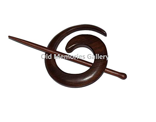 Houten Sjaal Ring 7cm Haarspelden Haarstokken Bedrukte Hout Haarspeld Houten Naald Sieraden Accessoires