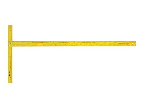 Stanley Stht1-05894 Équerre En T Pour Poser Des Cloisons De Plâtre Avec Échelle Métrique - Graduation En Mm - Tête Entaillée - Lame 50Mm Durable Et Flexible