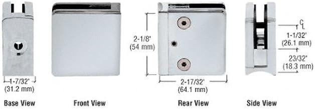 C.R. Laurence Z612sc saten krom z-serisi kare tip yarıçaplı taban çinko kelepçe 1/2 inç cam için