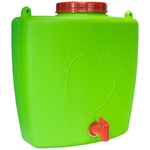 4Big.fun Wasserspender 9 L mit Wasserhahn Camping Gartenhaus Datscha Rukomojnik Kanister grün