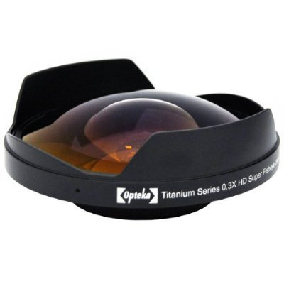 Opteka Titanium Series 52mm 0.3X HD Ultra Fisheye Lens for Sony DCR-TRV900, DCR-VX1000, DSR-200 and DSR-PD100 Video Camcorders