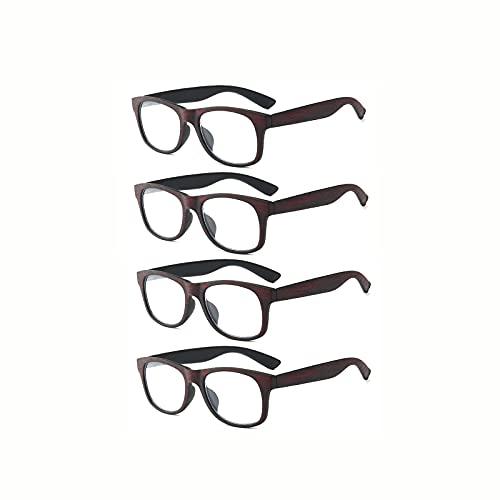 ShRan Imitación de Grano de Madera Retro Gafas de Lectura Anti-BLU-Ray HD Espejo de Lectura