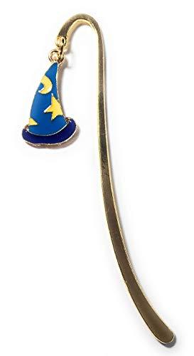 FizzyButton Gifts Goud Toon Mini Bladwijzer met Wizard Hoed Bedel met Gekleurd Emaille Detail, in Geschenkzak