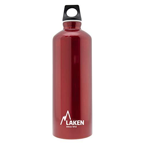 Laken Futura Botella de Agua, Cantimplora de Aluminio Boca Estrecha 0,6L, Rojo