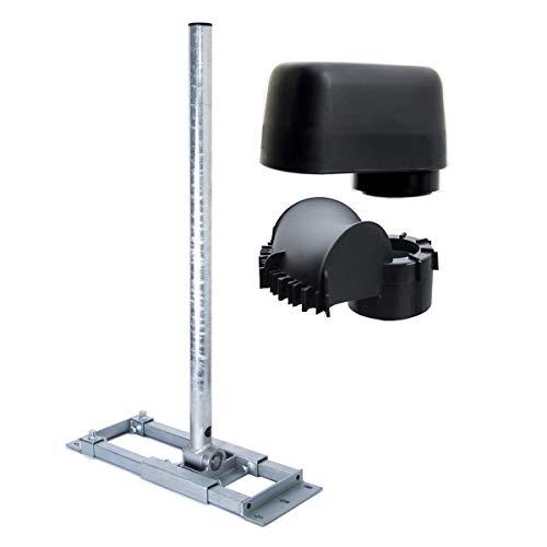 PremiumX Deluxe X90-60 Dachsparrenhalter 90 cm Mast Ø 60 mm SAT Dach-Sparren-Halterung inkl. Mastkappe mit Kabel-Durchführung