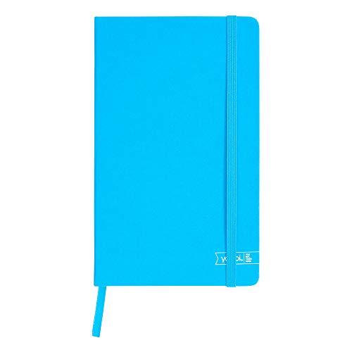 Yoobi Blue Journal | Caderno de capa dura durável com fecho elástico | pautado na faculdade, 80 lençóis forrados | Perfeito para escrever, escola, trabalho, listas | Você compra, Yoobi dá | 13 cm x 21 cm