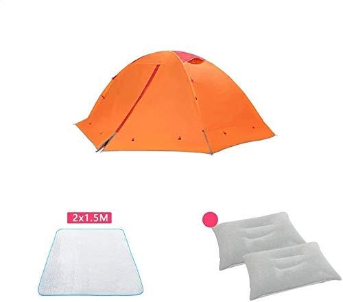 Dmqpp Persenning Camping Zelte, Outdoor-Ultra-Light verdickte warme Doppelschicht regendicht Aluminiumpfosten Kletter Zelt Zelt (Color : B)