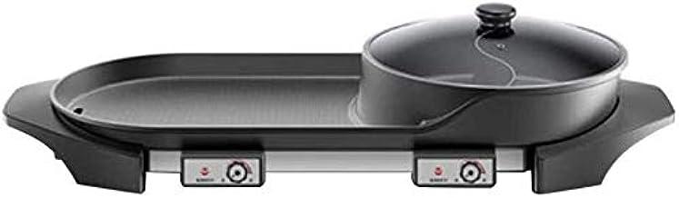 Électrique Multi Cuiseur Barbecue Pan Hot Pot Gril électrique intérieur Pot chaud multifonctionnel, poêle électrique ménag...