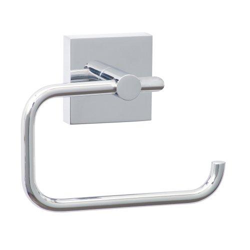 Nie Wieder Bohren ekkro Toilettenpapierhalter, hochglanzverchromt, inkl. Klebelösung, hohe Haltekraft (bis 6kg), 110mm x 133mm x 47mm