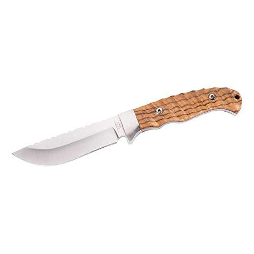 Herbertz Couteau de Ceinture pour Homme avec Couteau en Bois zébré, Argent, 22 cm