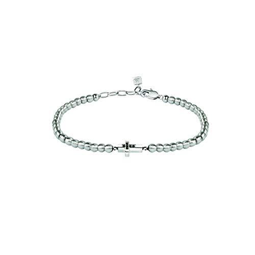 Morellato Bracciale da uomo, Collezione Mister, in acciaio, diamanti naturali selezionati h/i - SANF03