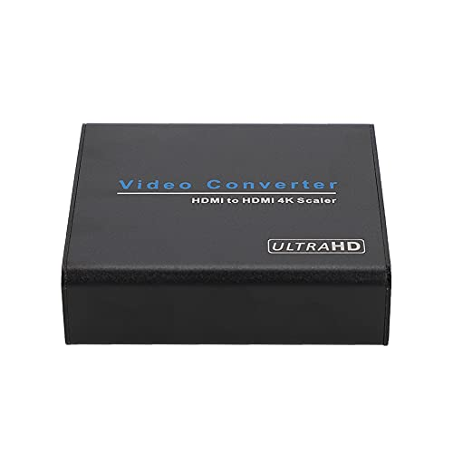 ASHATA Video Audio Decodificador Digital Convertidor Box, HDMI a HDMI Video Compuesto Audio Audio Convertidor estéreo Adaptador Conector Down Scaler, para PS4, PS3, Xbox, TV(Reino Unido)