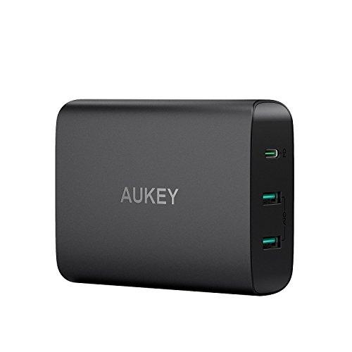 AUKEY 急速充電器 ACアダプター PD3.0対応 60Wタッブレット充電器 USB Type-C Power Delivery 3.0 + 5V/2.4...