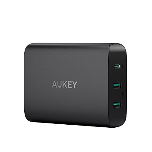 AUKEY USB充電器 ACアダプター 60W USB Type-C Power Delivery 3.0 + 5V/2.4A スマホ充電器 MacBook/Pro, Dell XPS, iPhone X/8/Plus, Samsung Note8 など対応 PA-Y12