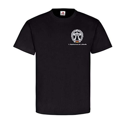 1 Objektschutz der Luftwaffe Version 2 Bund Truppe Wappen T Shirt#25109, Farbe:Schwarz, Größe:Herren XL
