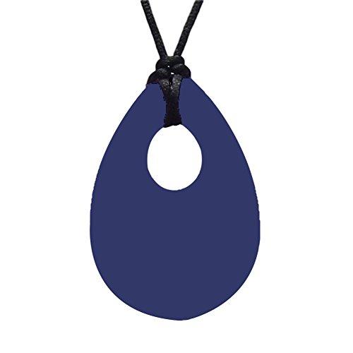 Goodluvk28 Modische, charmante Halskette für Damen und Kinder, Teardrop Anhänger für Beißen, Kau-Halskette, weiches Silikon, Beißspielzeug für sie