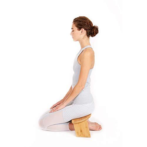 LLC-POWER Bambu meditationsbänk, hopfällbar reseversion knäpall, ergonomisk, för teceremoni,...