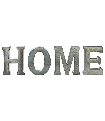 Letras decorativas murales o para posar - HOME - Color GRIS envejecido