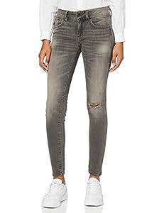 G-STAR RAW Damen Jeans Lynn Mid Waist Skinny Jeans, Grau (Medium Aged Ripped), 33W / 32L