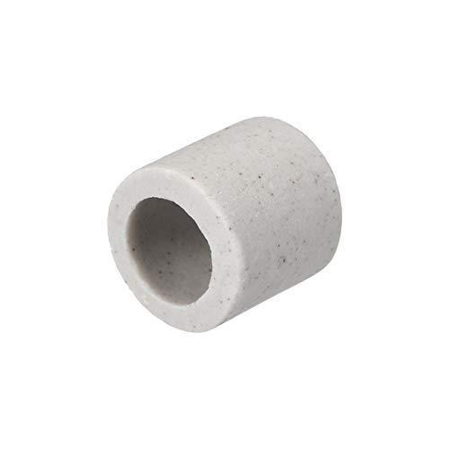 DealMux 8mm Dia Keramik Isolationsrohr Single Bore Aluminiumoxid Porzellan Hochtemperatur-Isolationsrohr für Heizelement 39 Stk