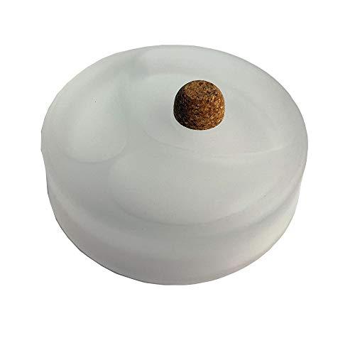 TOP Marques Collectibles Akra 412050 - Posacenere in Vetro opalino, 2 Ripiani, Diverse plastica, 10 x 10 x 10 cm