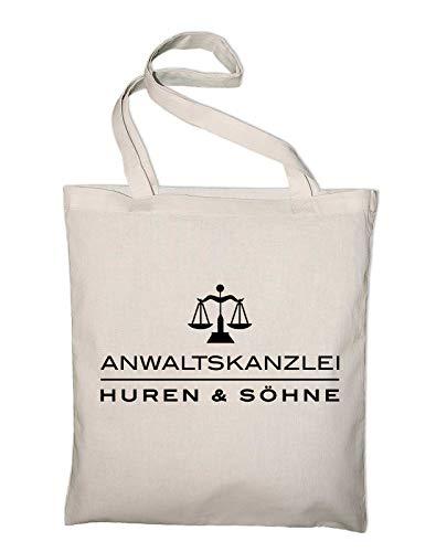 Styletex23 Anwaltskanzlei Huren und Söhne Fun Jutebeutel Shopping Bag, natur
